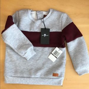 NWT 7 For All Mankind Sweatshirt 24 mo.